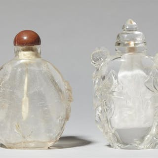 Two rock crystal snuff bottles. 18th/19th century