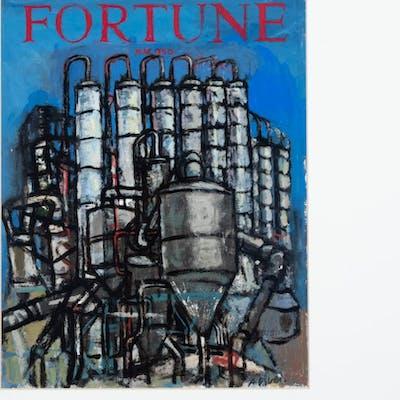 Arthur Osver, American (1912-2006), Study for Fortune Magazine Cover