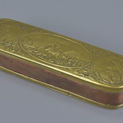 Mid 18th century German Brass and Copper Tobacco Box