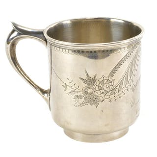 Rare North Carolina Coin Silver Engraved Cup By VOGLER