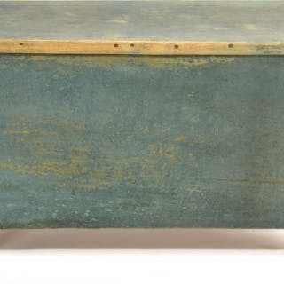 Early North Carolina Painted Divided Mill Chest