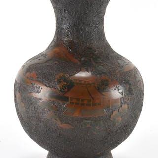 Japanese Satsuma Meiji Signed Pottery Vase