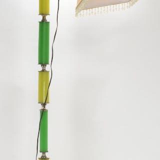 Art Deco Green Jadeite Vaseline Floor Lamp