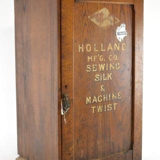 Holland Sewing Silk & Machine Twist Oak Cabinet