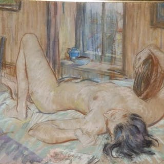 In the Impressionist manner - a double-sided pastel drawing - Female
