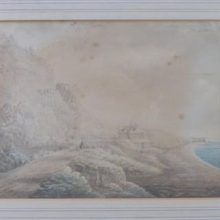 Reverend John Swete (1752-1821) - double-sided watercolour from sketch