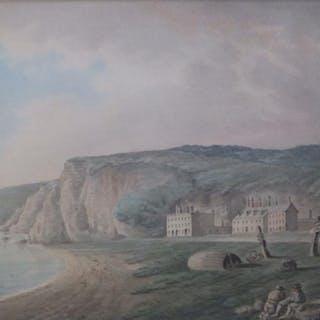 Reverend John Swete (1752-1821) - watercolour - Dawlish Beach, signed