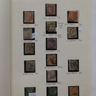 A single stamp album leaf - GB Queen Victoria, Surface printed issues