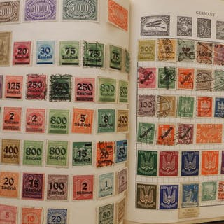 Two stamp albums with world postage stamps from 1930's to 1980's