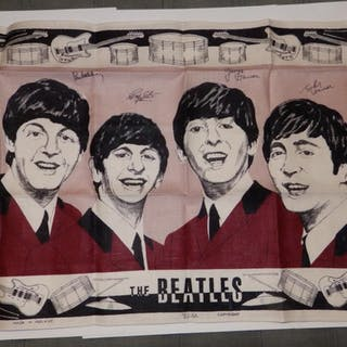 A 1960's Beatles tea towel - as new.