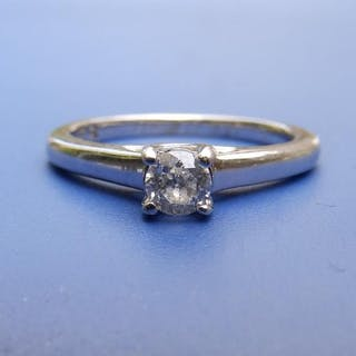 A small diamond 'Forever' solitaire ring , the 0.25 carat brilliant