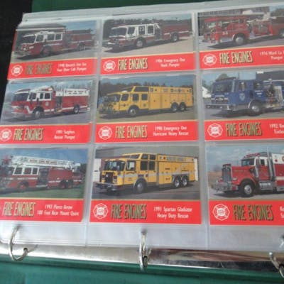 About 300 Fire Engines 1994 Virginia Hobby Cards