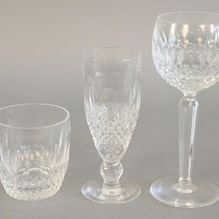 Twenty-four piece Waterford crystal lot with eight tall stem