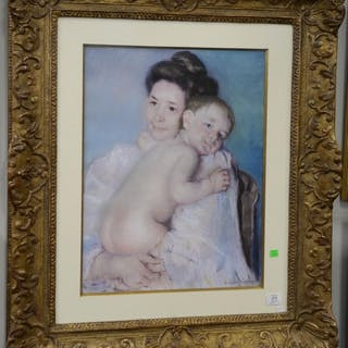 Eli Wilner Replica, Frame gilt and composition, print of Mar
