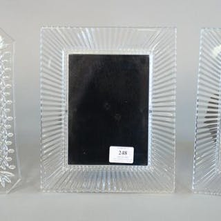 Group of three large Waterford crystal picture frames, 10 1/