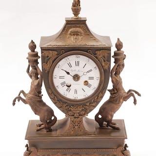 French Empire Bronze Mantel Clock
