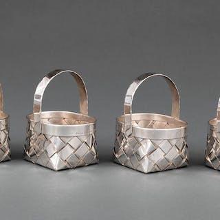 Cased Set of Cartier Sterling Silver Baskets