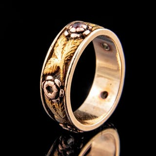 14 kt. Yellow, Rose and Green Gold Wedding Band