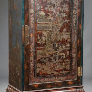 Mother-of-Pearl Inlaid Lacquer Cabinet