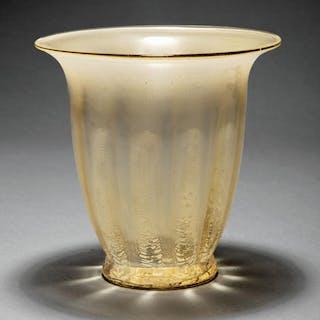 Loetz Etched Glass Vase