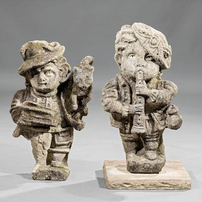 English Carved Gritstone Figures