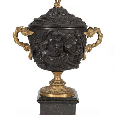 Gilt and Patinated Bronze Covered Urn