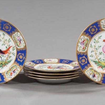 Polychrome, Gilt Porcelain Cabinet Plates