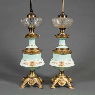 Bronze-Mounted Porcelain Lamps