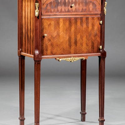 Mahogany and Parquetry Commode