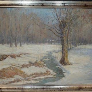 Daniel Kotz Oil on Canvas Winter Melt