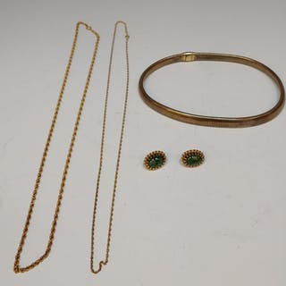 (4) Lot of Gold Filled Jewelry