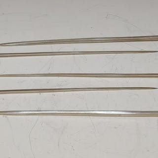 (5) Vintage German Shish Kebab Grilling Swords