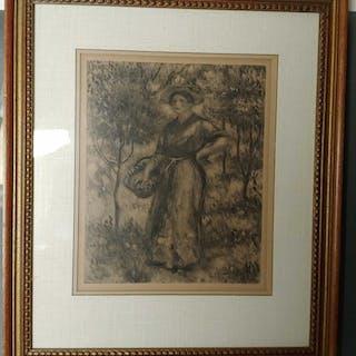Pierre August Renoir Etching 'Femme au Pannier'