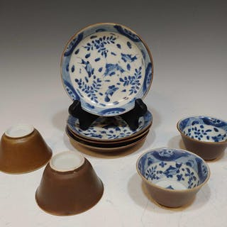 Chinese Ca Mau Shipwreck Ceramic Tea Bowls Saucers