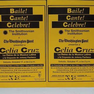 (2) Celia Cruz Concert Posters