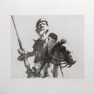 Charles Bragg, Don Quixote 2, Etching