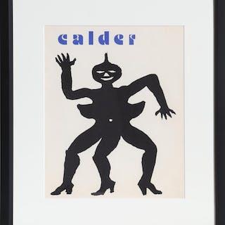 Alexander Calder, Derrière le Miroir (Cover), Lithograph