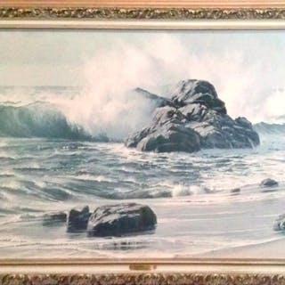 James Fetherolf, California Surf, Offset Print on Board