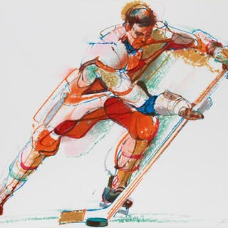 Jim Jonson, Hockey, Lithograph