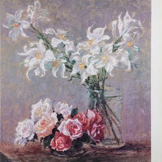 Louisa Lee, Roses and Lilies, Poster