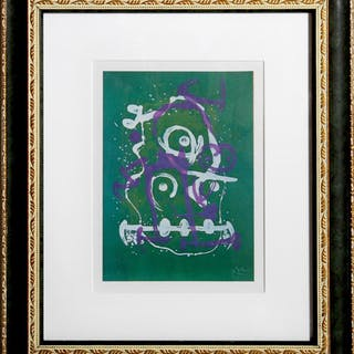 Joan Miro, The Illiterate (Green and Violet), Offset Lithograph