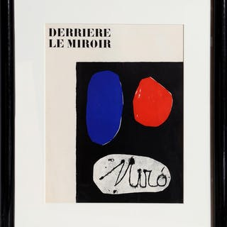Joan Miro, Derriere le Miroir (Cover), Lithograph
