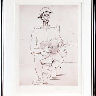 Pablo Picasso, Arlequin Moustachu a la Guitare, Lithograph