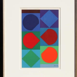 Victor Vasarely, Beryll from Souvenirs de Portraits d'Artistes Jacques