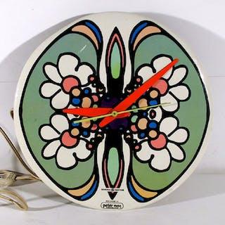 Peter Max, Clock (Green with Orange Daisies), General Electric Clock