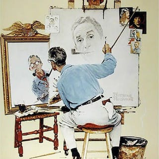 Norman Rockwell, Biography (Self Portait), Poster