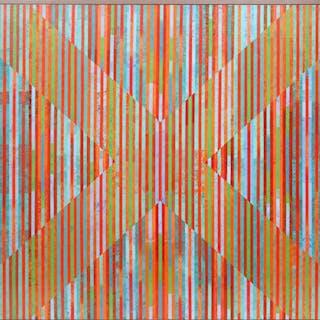 Dan Teis, Candy Stripes X, Acrylic Painting