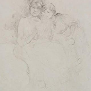 Berthe Morisot drypoint