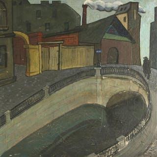 VLADIMIR KALYAGIN (RUSSIAN 1892-1970), Canal in Saint Peters