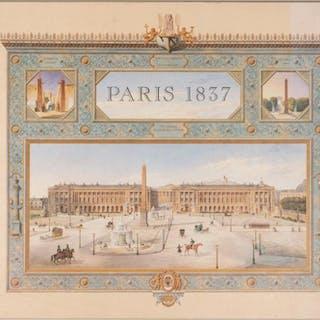 """FELIX DUBAN (FRENCH 1798-1870), """"Vues De Quelques Monuments"""